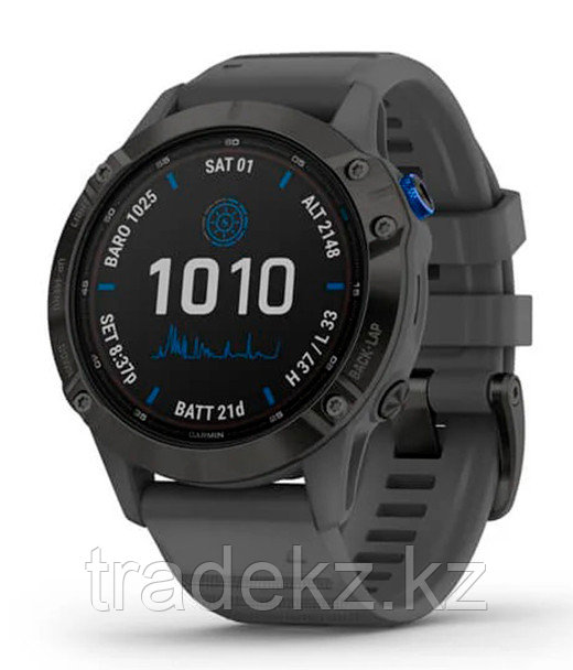 Спортивные часы Garmin fenix 6S Pro Solar, Black w/Slate Gray Band, GPS Watch, EMEA (010-02410-11) с GPS