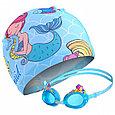 Очки  шапочка  сумка для плавания детские  русалочка, фото 3