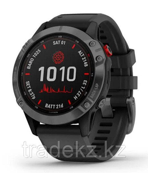 Спортивные часы Garmin fenix 6S Pro Solar, Slate Gray with Black band, GPS, EMEA (010-02410-15)