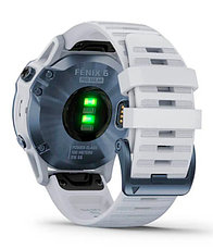 Спортивные часы Garmin fenix 6S Pro Solar, Mineral Blue w/Whitestone band, GPS, EMEA (010-02410-19), фото 3