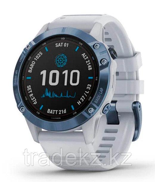 Спортивные часы Garmin fenix 6S Pro Solar, Mineral Blue w/Whitestone band, GPS, EMEA (010-02410-19)