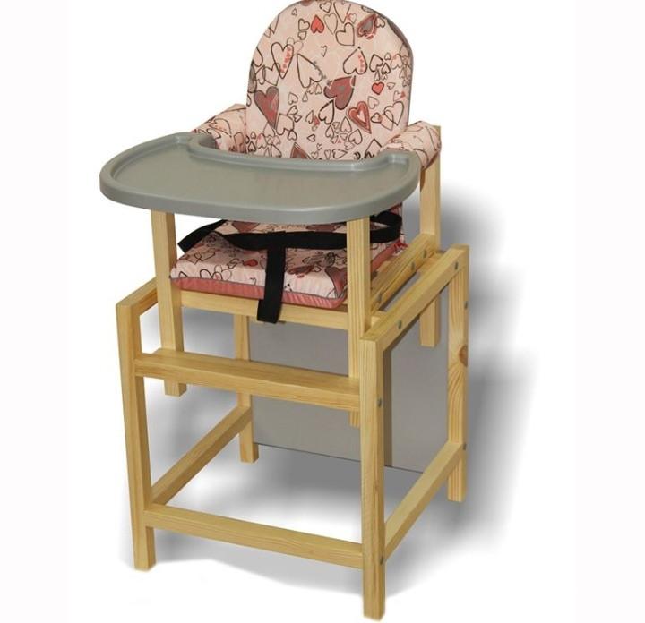 Стул-стол для кормления СТД-07 розовый