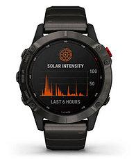 Спортивные часы Garmin fenix 6 Pro Solar, Ti,Carbon Gray DLC w/Ti DLC Band, GPS, EMEA (010-02410-23), фото 3