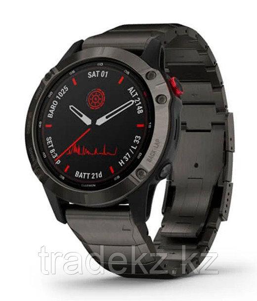 Спортивные часы Garmin fenix 6 Pro Solar, Ti,Carbon Gray DLC w/Ti DLC Band, GPS, EMEA (010-02410-23)
