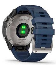 Часы Garmin quatix 6 Gray w/ Captain Blue Band (010-02158-91), фото 2