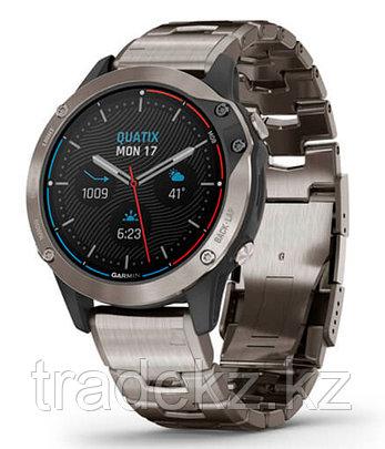Часы Garmin quatix 6 Sapphire Titanium Gray w/Ti Band (010-02158-95), фото 2