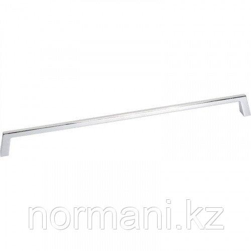 Мебельная ручка скоба, замак, размер посадки 320 мм, отделка хром глянец