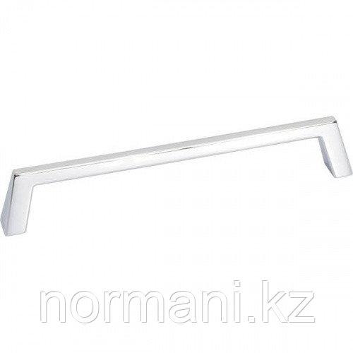 Мебельная ручка скоба, замак, размер посадки 160 мм, отделка хром глянец
