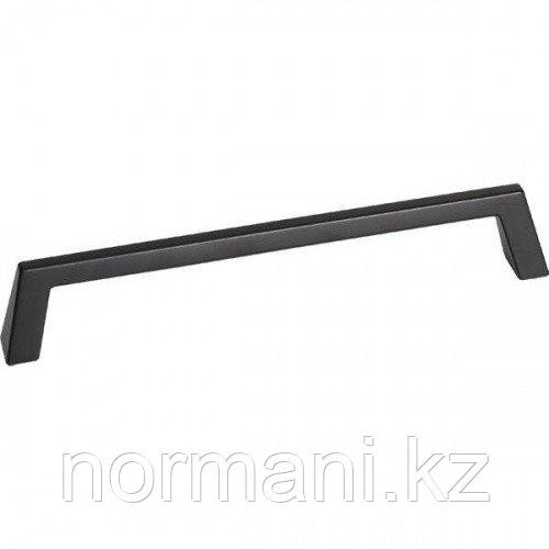 Мебельная ручка скоба, замак, размер посадки 160 мм, отделка черный матовый