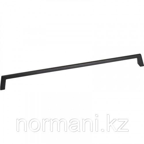 Мебельная ручка скоба, замак, размер посадки 320 мм, отделка черный матовый