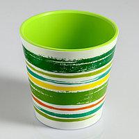 Вазон со вставкой «Краски», 2,1 л, цвет зелёный
