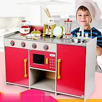 Стильная детская кухня 1021 красный