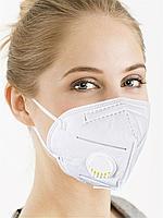 Респиратор с клапаном KN95 FFP2 маска защитная, многоразовая