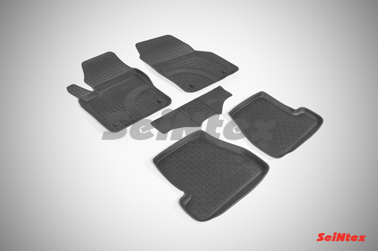 Резиновые коврики с высоким бортом для Ford Focus III 2015-2019