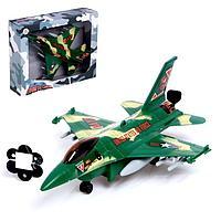 """Самолет """"Истребитель"""", работает от батареек, МКИС, фото 1"""