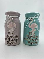 """Интерьерная ваза """"be a flaming i a flock of pigeons"""""""