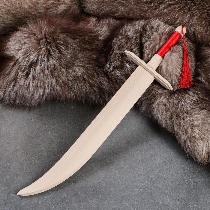 """Сувенир деревянный """"Сабля козака"""" с ленточкой, 46 см, массив бука"""