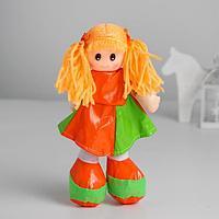 Мягкая игрушка «Кукла», в кожаном сарафане, цвета МИКС
