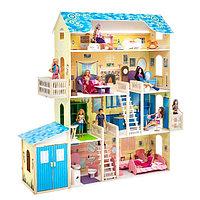 Кукольный домик «Лира», (28 предметов мебели, 2 лестницы, гараж), фото 1