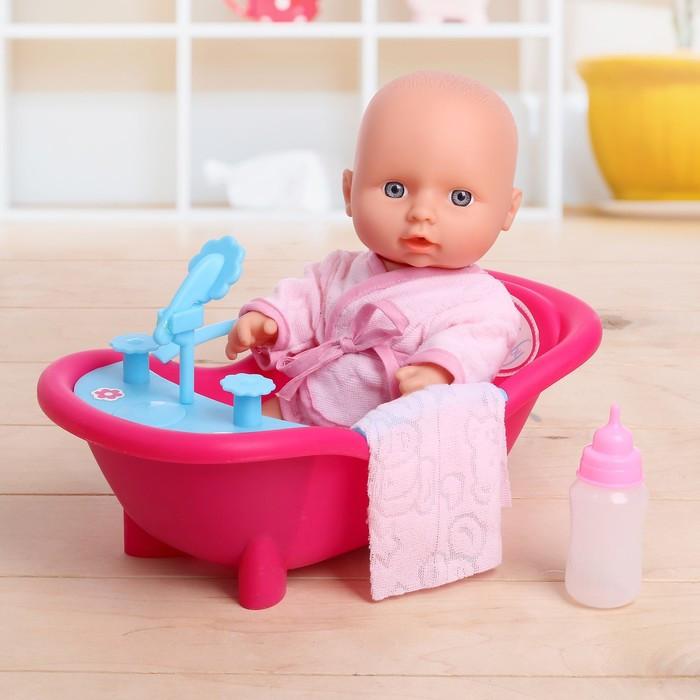 """Пупс """"Счастливый малыш"""" в ванной, с аксессуарами"""