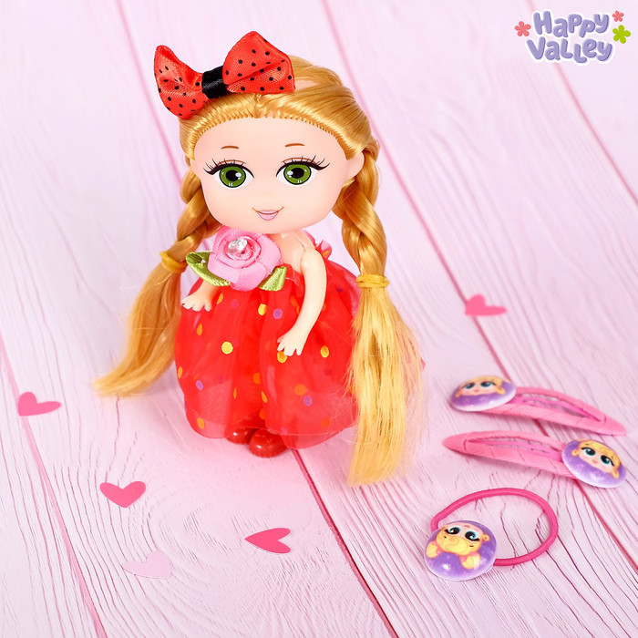 Кукла «Лола» с заколками и резинкой, МИКС