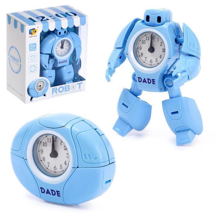 Робот-трансформер «Будильник», звуковые эффекты, цвета голубой