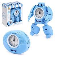 Робот-трансформер «Будильник», звуковые эффекты, цвета голубой, фото 1