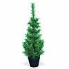 Елка 0,9м зеленая в черном горшке d0,42м 83ветки