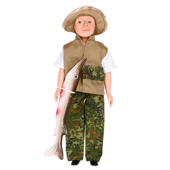 "Кукла ""Борис - рыбак"" 30 см 19 - 29.1"