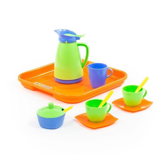 """Набор детской посуды """"Алиса"""" с подносом на 2 персоны, 11 элементов 40572"""