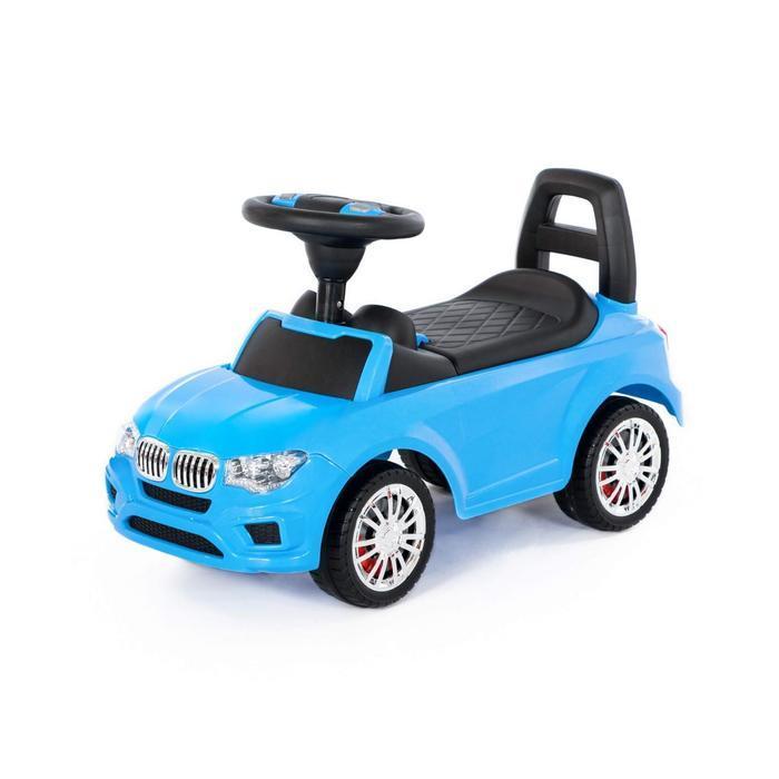 """Каталка-автомобиль """"SuperCar"""" №5 со звуковым сигналом, голубой 84521"""