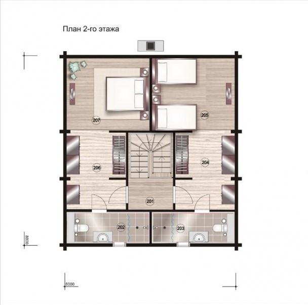Строительство деревянного дома из бруса по проекту, план двухэтажного дома и строительство под ключ, проектирование и строительство деревянных домов.