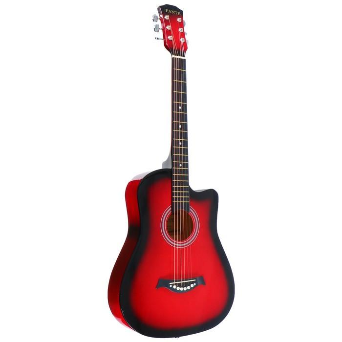 Акустическая гитара Fante FT-D38-RDS с вырезом, красный санберст