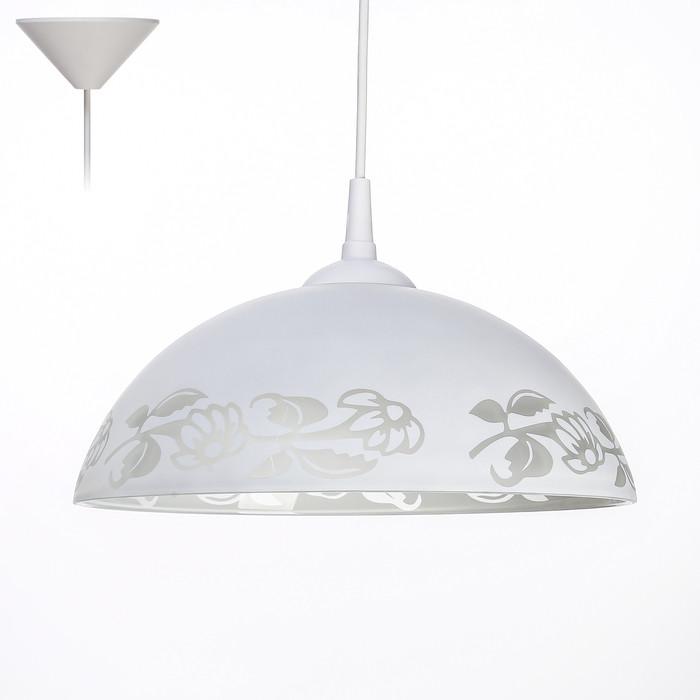 """Светильник Колпак """"Лакресси"""" 1 лампа E27 40Вт белый  д.300"""