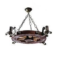 """Люстра деревянная """"Колесница"""", 4 лампы, 60 см, фото 1"""