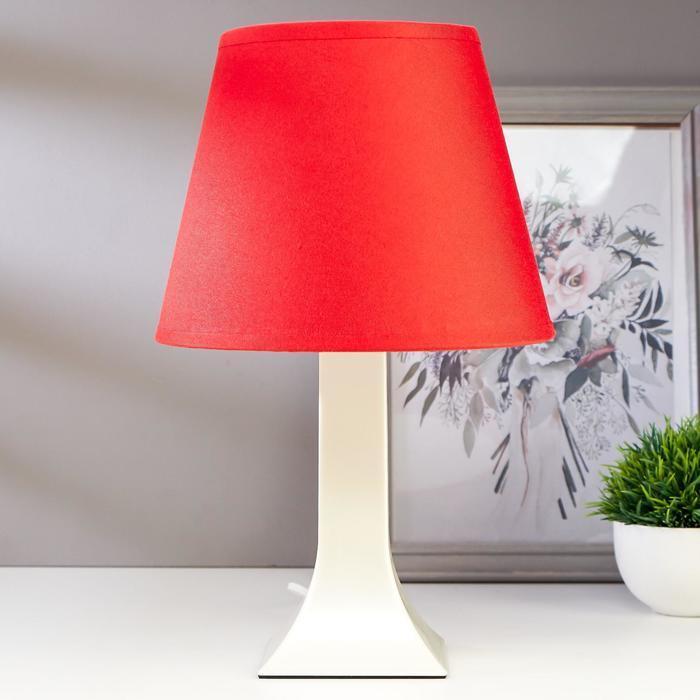 Лампа настольная 62104 1хЕ27 15Вт красный d=22 см, h=34,5 см