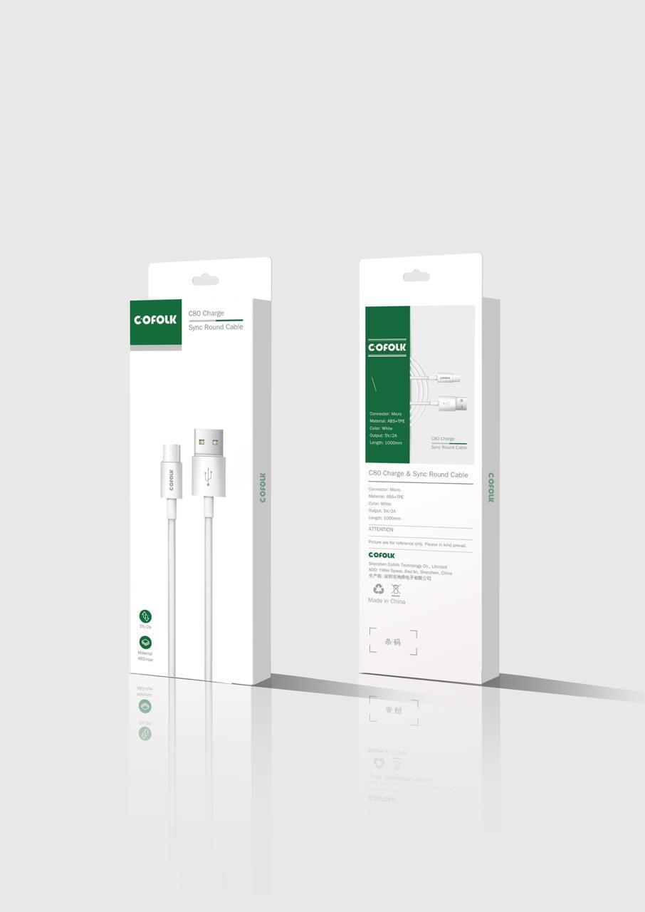 Кабель USB MICRO COFOLK C80 Charge 1000mm