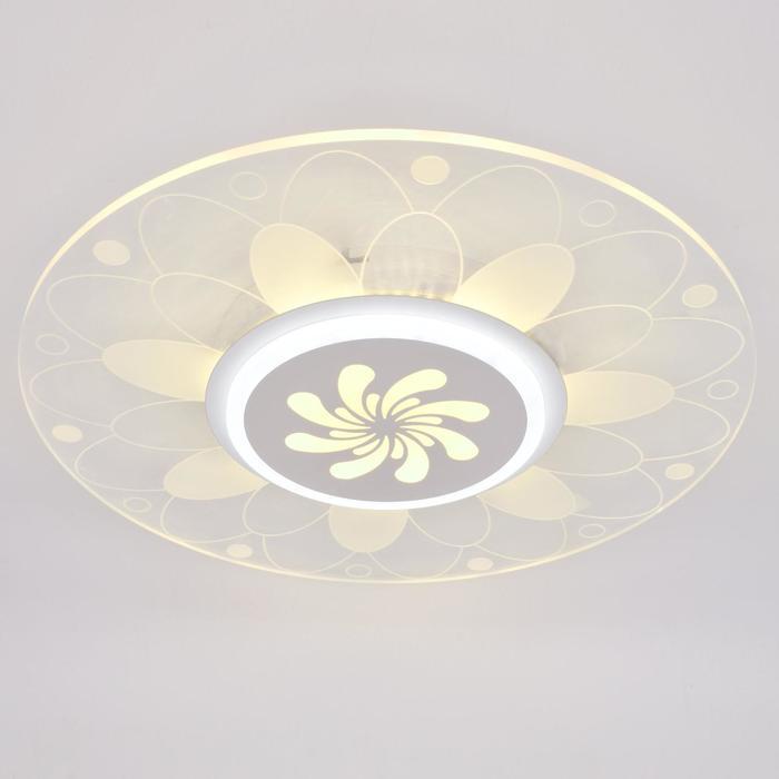 Люстра с ПДУ 74656/1 LED 55Вт 3000-6000К диммер бело-прозрачный 50х50х5 см