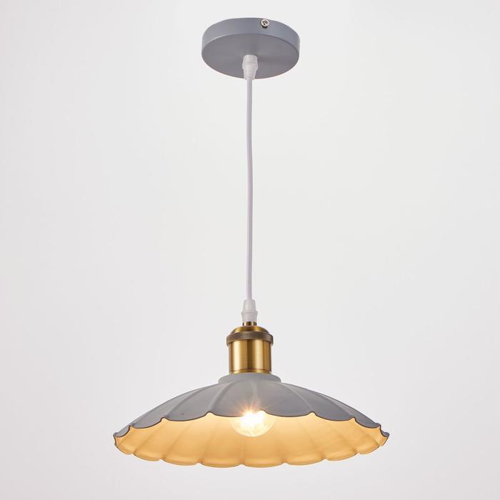 Светильник 2034849/1 E27 40Вт серый-медь 25х25х10 см