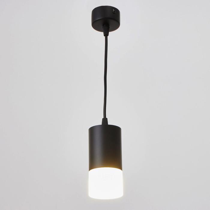 Потолочный светильник подвесной 1х10Вт GU5.3 черный 6,5х6,5х11см