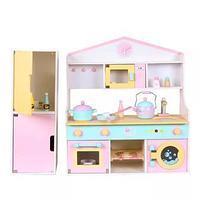 Большая детская кухня 1023 розовый/бирюза