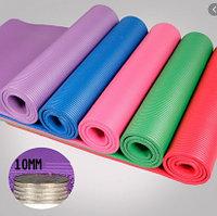 Коврики для йоги (йога мат, каремат) и фитнеса 10мм с чехлом