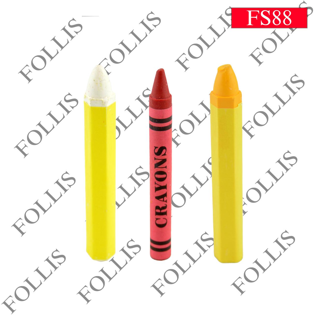 S-489 Crayon pen, Yellow/White/Orange color (Мель)