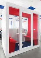 Акустическая будка LWOP four-seater четырехместная задняя стенка стекло