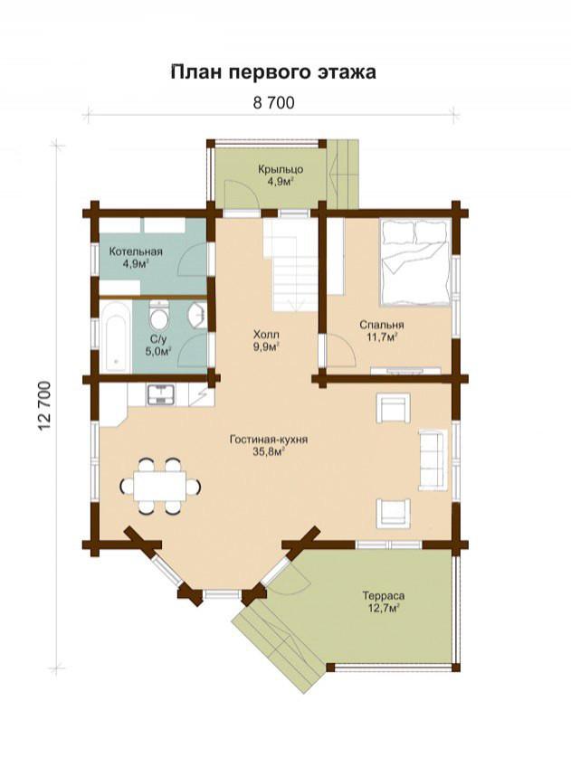 дома из бруса с отделкой под ключ, план двухэтажного дома и строительство под ключ, проектирование и строительство деревянных домов.