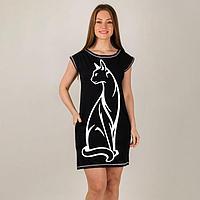 Туника женская, цвет чёрный, размер 54