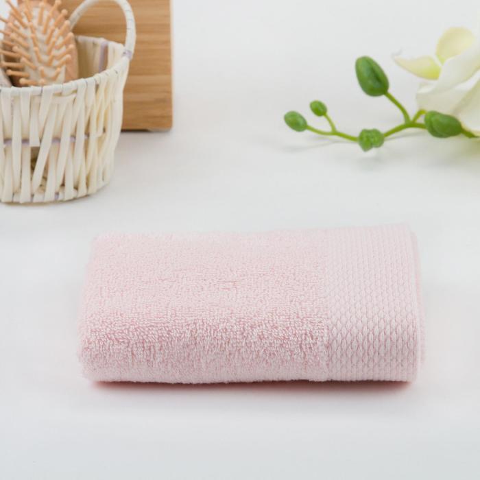 Полотенце махровое гладкокрашеное 70х140 см, розовый, хлопок 100%, 480г/м2 - фото 1