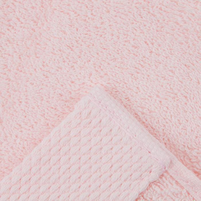 Полотенце махровое гладкокрашеное 70х140 см, розовый, хлопок 100%, 480г/м2 - фото 3
