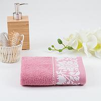 Полотенце махрове МУЗА 01-098 70х130 см, тёмно-розовый, хлопок 100%, 400г/м2, фото 1
