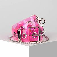 Ремень жен 07-08-02-01, 4*0,3*110, силикон, пряжка металл, розовый
